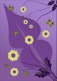 Disegno del fiore di vettore Fotografie Stock