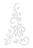 Disegno del hennè Fotografia Stock