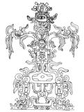 Disegno del Inca Immagini Stock