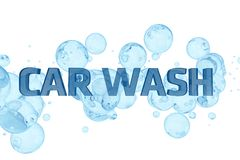 Disegno del lavaggio di automobile Fotografie Stock