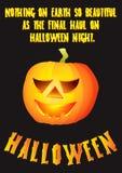 Disegno del manifesto della zucca di Halloween immagini stock libere da diritti