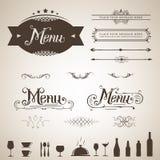 Disegno del menu Fotografia Stock Libera da Diritti