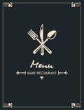 Disegno del menu Fotografia Stock