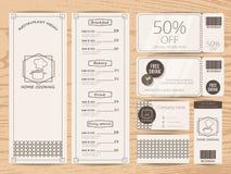 Disegno del menu Fotografie Stock