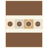 Disegno del menu del caffè Immagine Stock Libera da Diritti
