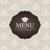 Disegno del menu del ristorante Immagini Stock Libere da Diritti
