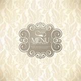 Disegno del menu del ristorante Fotografia Stock