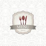 Disegno del menu del ristorante Fotografie Stock Libere da Diritti