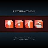 Disegno del menu del ristorante Fotografia Stock Libera da Diritti