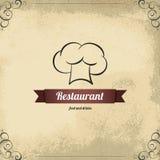 Disegno del menu del ristorante Immagini Stock