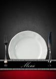Disegno del menu del ristorante Immagine Stock Libera da Diritti