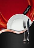Disegno del menu del ristorante Fotografie Stock