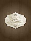 Disegno del menu dell'annata Fotografie Stock Libere da Diritti