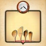 Disegno del menu dell'annata Immagini Stock