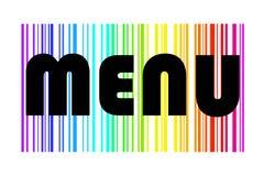 Disegno del menu in Rainbow variopinto illustrazione di stock