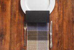 Disegno del menu del ristorante Menu del ristorante con il pla vuoto e bianco fotografia stock