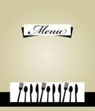 Disegno del modello del menu del ristorante Fotografie Stock