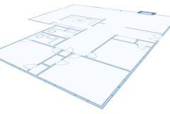Disegno del modello di una casa residenziale semplice Fotografia Stock Libera da Diritti