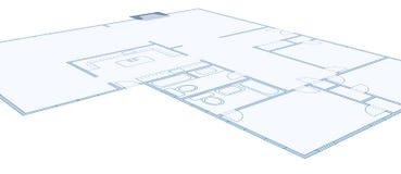 Disegno del modello di una casa residenziale semplice Fotografie Stock Libere da Diritti