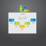 Disegno del modello di Web site. Fotografia Stock