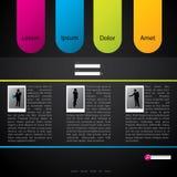 Disegno del modello di Web site con i profili Immagine Stock