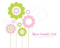 Disegno del modello per la cartolina d'auguri Immagini Stock Libere da Diritti