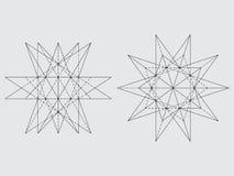 Disegno del poliedro Fotografia Stock Libera da Diritti
