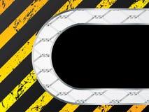 Disegno del recinto di filo metallico con il messaggio illustrazione di stock