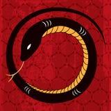Disegno del serpente dell'nuovo anno Fotografia Stock