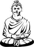 Disegno del tatuaggio del Buddha Fotografia Stock Libera da Diritti