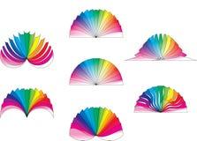 Disegno del ventilatore di colore Immagine Stock