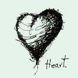 Disegno del vettore del cuore Fotografie Stock