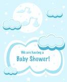 Disegno dell'acquazzone di bambino Fotografia Stock