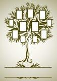 Disegno dell'albero di famiglia di vettore con i blocchi per grafici illustrazione vettoriale