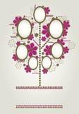 Disegno dell'albero di famiglia di vettore con i blocchi per grafici illustrazione di stock