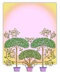 Disegno dell'albero di fiaba Fotografie Stock