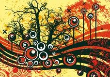 Disegno dell'albero di Grunge Immagini Stock