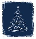 Disegno dell'albero di Natale. Immagine Stock