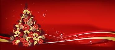 Disegno dell'albero di Natale illustrazione di stock