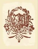 Disegno dell'annata di Grunge Immagini Stock