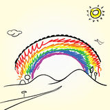 Disegno dell'arcobaleno Fotografia Stock