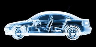 Disegno dell'automobile dei raggi X di tecnologia Fotografie Stock