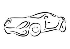 Disegno dell'automobile di vettore Fotografia Stock Libera da Diritti