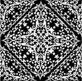 Disegno dell'estratto del quadrato bianco e nero illustrazione di stock