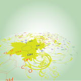 Disegno dell'estratto di chimica Immagini Stock Libere da Diritti