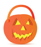 Disegno dell'illustrazione del cestino di Halloween Fotografia Stock