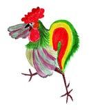 Disegno dell'illustrazione di un gallo nello stile dello schizzo Fotografia Stock Libera da Diritti