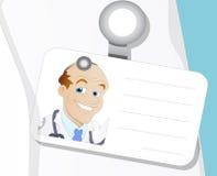 Il dottore Identity - personaggio dei cartoni animati - illustrazione di vettore Immagini Stock