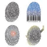 Disegno dell'impronta digitale Fotografia Stock