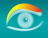 Disegno dell'occhio di vettore Fotografia Stock Libera da Diritti